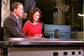 NBC's Jason Austell and Marianne Kushi at the anchor desk