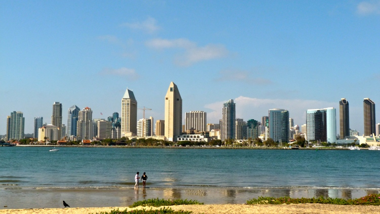 Downtown San Diego's skyline from Coronado Island.