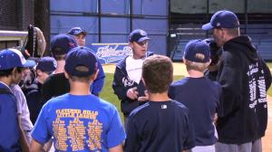 Coach giving a post-practice speech