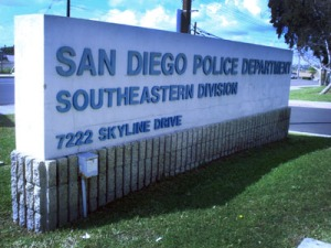 Photo of San Diego Police Department sign