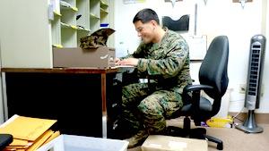 Damon Lode sorting mail