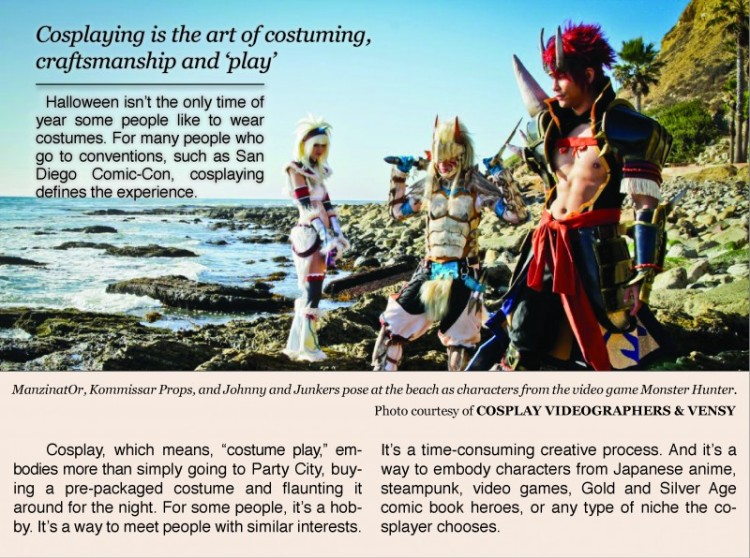 Cosplay means is the art of costuming and play.