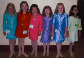 Jr. Princess contestants wait for their interview at the 2012 International Junior Miss national pageant in Orlando Florida.