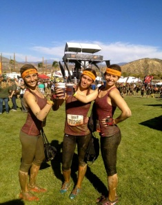 Emerald Smith and her teammates enjoy a Dos Equis beer after finishing the course. Photo courtesy of Emerald Smith.