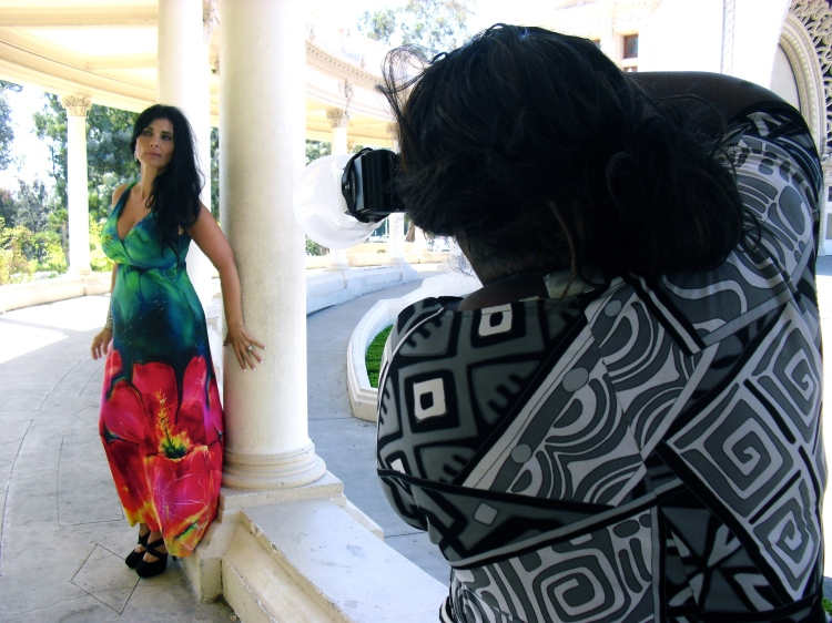Curve model Tammie Star at a photo shoot in historic Balboa Park.
