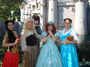 Andere and friends dressed as their favorite princesses at Disneyland. Photo provided by Andere.