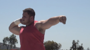 USA thrower, Joe Kovacs, lives and trains at the Chula Vista OTC