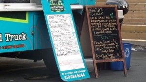 Not So Fast! food truck displays a Paleo meal selection for customers on their menu Photo Credit: Melissa Porter
