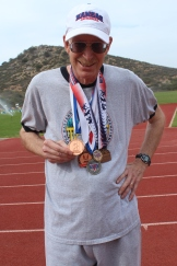"""I treasure my medals in world and national masters championships and will never part with them,"" Stone said."