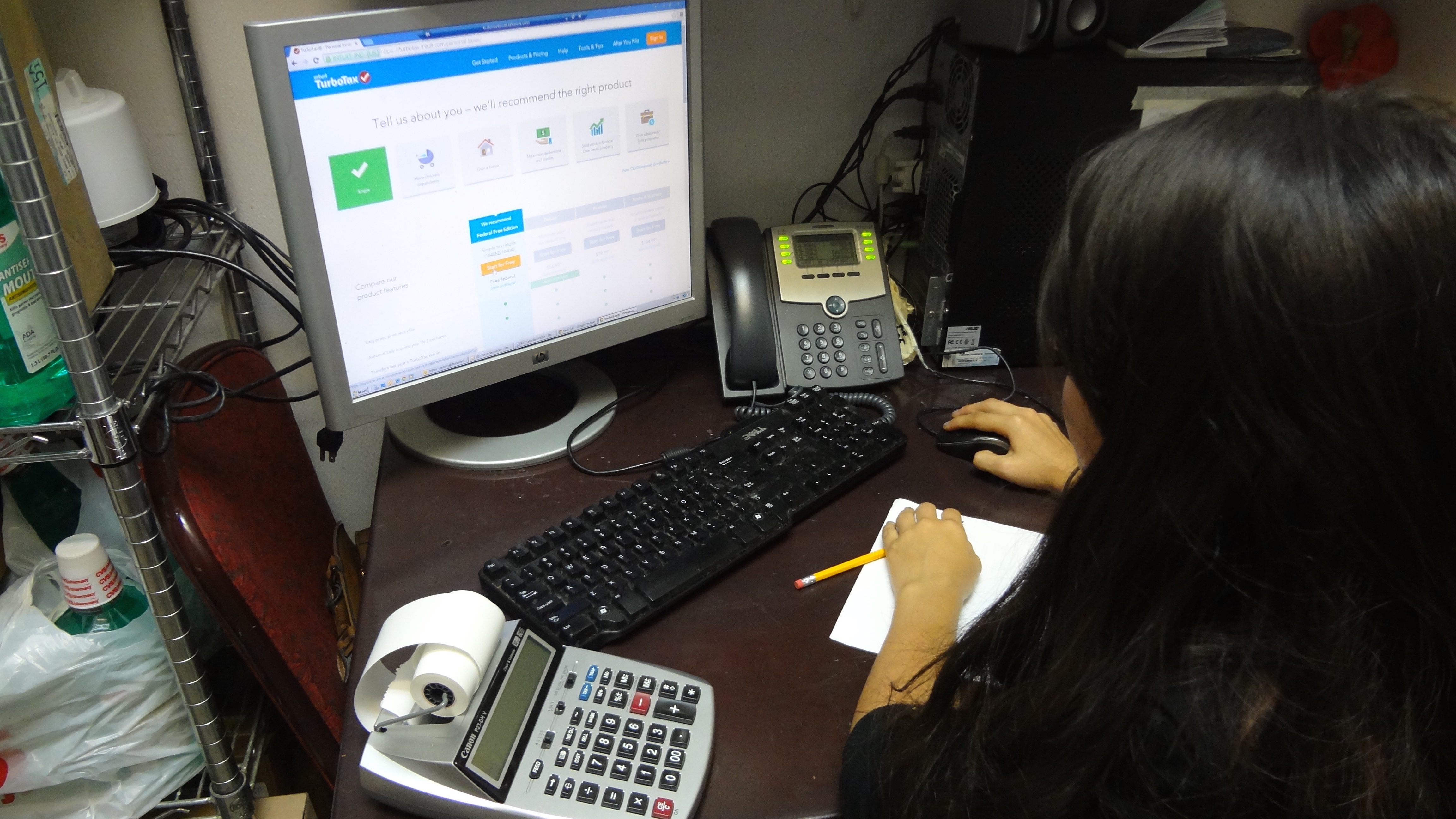 Tax filing should you do it yourself online or use a professional arzate works on filing her taxes she said she will use turbotax again next year solutioingenieria Gallery