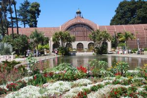 The Botanical Building is made of lattice steel and brick. It was designed by Carleton Winslow in 1915.