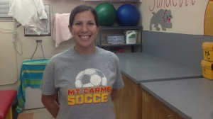 Diane Lawrance is the head athletic trainer at Mt. Carmel High. She says that freshman students are the ones most frequently trying to play through head injuries because they don't realize the severity of them at that stage.
