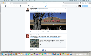 "SCREENSHOT: @staph, an environmental enthusiast, calls out the ""waterhog"" residing in Rancho Santa Fe."