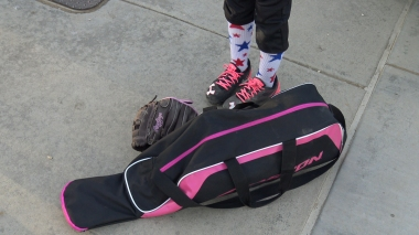 Bag, gloves, cleats000000